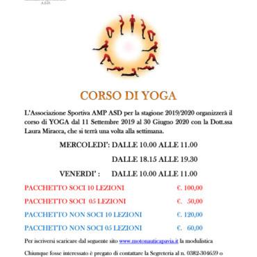 Corso di Yoga 2019-2020