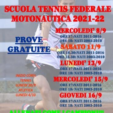 Prove Gratuite Scuola Tennis 2021-2022